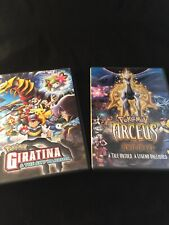 Lot Of 2 Pokémon - Giratina and The Sky Warrior (DVD, 2009) & Arceus Jewel Life