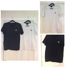 2x HENRI LLOYD T-Shirt - Black (M) - White (L) Short Sleeve - Men's (651)