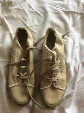 New Roxy QuikSilver Retro Canvas Pumps Logo Embroidered Suede Toes Size 6 EU 39