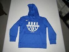 DUKE BLUE DEVILS BASKETBALL BOY'S NIKE ELITE BLUE HOODED SWEATSHIRT SIZE S