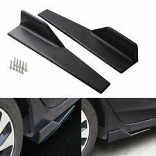 2pcs Universal Black Car Side Skirt Rocker Splitters Anti-Scratch Winglet Wings