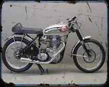 Bsa Goldstar Daytona A4 Metal Sign Motorbike Vintage Aged