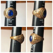 VINTAGE US MILITARY RING with BLUE STONE - Not sure the age or type!