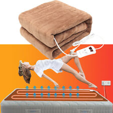 Electric Heated Throw Over Under Blanket Coralvelvet Washable Soft Warm Mattress