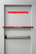 """NEW RED Security Blockade Bar for 36"""" Out swing for Business Back Door"""
