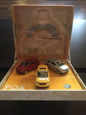 RARE VW FOX 1.2 1.4 URBAN FOX UP! BRAZIL 3 CAR SET 1:55 NOREV (DEALER MODEL)