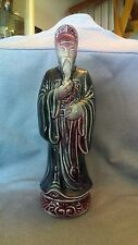 Rare Large Chinese Porcelain Male Statue Sculpture Figurine  Asian