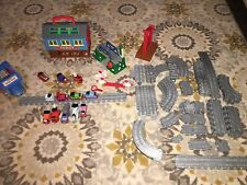 Thomas The Train Take Along Play Lot Set Gray Tracks Trains Cars Sodor Bridges +