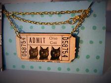 Admitir un gato, Vintage Tatty Victoriano billete Collar, Devine Black Cat suerte