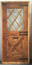 Rustic reclaimed solid lumber Dutch top door perfect wine room castle storybook