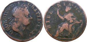 1723 Hibernia Halfpenny, Fine/VF, RARITY-5 VARIETY! Nice Coin, No Reserve!
