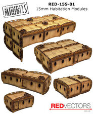 RED-15S-01 - 15mm Wargames - Sci-Fi Habitation Modules (5 buildings)