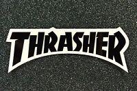 Thrasher Logo Skateboard sticker 5.5in black si