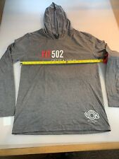 District Made Fit 502 Triathlon T Shirt Hoodie Medium M (6560-1)