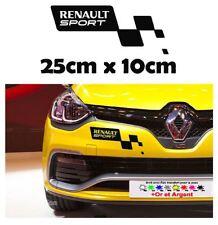 1x sticker Renault sport pare choc clio megane RS R.S