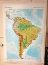 Karl Wenschow Relief Map South America  56 by 39