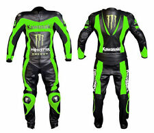 Kawasaki Motorbike Leather Suit Sports Racing Motorcycle Leather Suit All Size