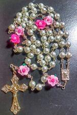 Unbreakable rosary,  glass pearls catholic rosary - handmade