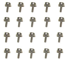 "Snap Fastener Machine Screw Stud, 1/2"" Stainless Steel #8 Screw 20 Pc. Set"