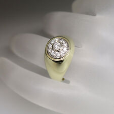 Bandring Ring Unisex mit ca. 0,60ct Brillant TW-vsi in 585/14K Weiß-/Gelbgold
