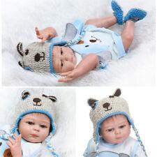 """20"""" Reborn Newborn Baby Doll Full Body Silicone Vinyl Bath Boy with Clothes"""