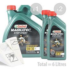 Car Engine Oil Service Kit / Pack 6 LITRES Castrol Magnatec 5W-30 C3 6L