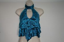BNWT tie bare back womens party clubbing blue top size 12