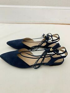 Klub Nico Gwen Navy Blue Lace Up Flats Size 8 Shoes