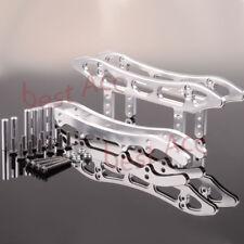1:10 1SET CNC aluminio Chasis Trineo Guardia Plata Axial SCX10 HONCHO DINGO para RC