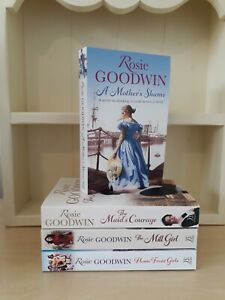 Collection of 4x Paperback Saga Romance Books Rosie Goodwin A Mothers Shame NEW