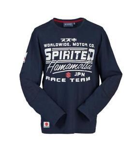 Genuine Suzuki Men's Spirited Hamamatsu Race Team T-Shirt, Colour Navy LS
