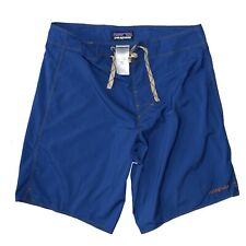 Patagonia Blue Board Shorts Size Surfing Swimming Beach Back Pocket BNWOT W30