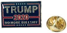 Wholesale Pack of 3 Trump 2020 No More BS Bullshit Blue Hat Cap Lapel Pin