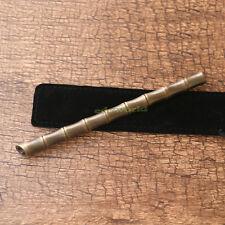 EDC Solid Brass Bamboo Tactical Pen Ball Point Pen Outdoor Survival Tool EDC-19J