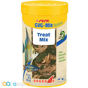 sera GVG-Mix Nature 250mL Treat Mix Natural Freshwater Fish Food Variety Blend