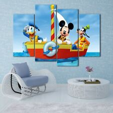 Mickey Mouse Clubhouse 4PCS HD Canvas Print Home Decor Room Wall Art pictures