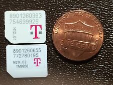Lot of 10 T-mobile Micro Sim cards