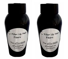 LIGHT BROWN Filler Up Hair  Fibers 2-50 g Bottles LOW COST SUBSTITUTE USA SELLER