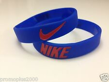 Nike Sport Baller Band Silicone Rubber Bracelet Wristband blue/red logo