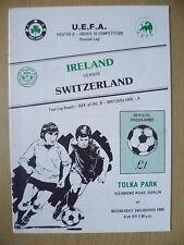 1989 UEFA Youths B- Under 16- IRELAND v SWITZERLAND