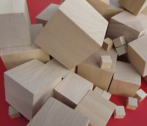 Wooden Craft Supplies Blocks Wood Cubes 10mm - 60mm Hardwood 75mm Pine Minecraft