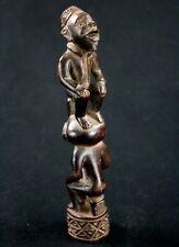 Art Africain Arts Premiers Tribaux - Magnifique Statuette Sceptre Kongo - 18 Cms