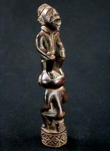 Art Afrikanisch Arts Erste Tribals - Großartig Statuette Zepter Kongo - 18 CMS