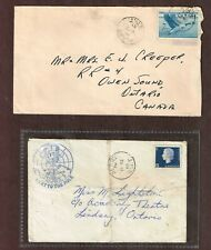 Canada 1853 &1866 Two covers from Alert NWT 7c Airmail & 5c letter rate