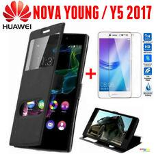 Huawei NOVA YOUNG Custodia Cover Libro Finestra + Pellicola Vetro Temperato