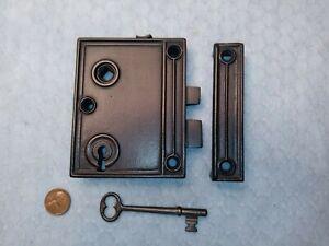 Rim Lock Only Reversible Restored Vertical w/key