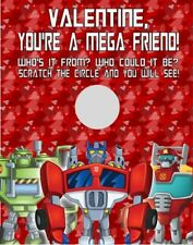 Transformers Rescue Bots Valentine's Day Scratch Off Cards Personalized
