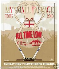 "ALL TIME LOW / A ROCKET TO THE MOON ""MY SMALL PACKAGE 2010 TOUR"" CONCERT POSTER"