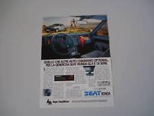 advertising Pubblicità 1983 SEAT RONDA GLX