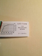 "Lee Filters L159 No Colour Straw Lighting Gel Sheet  21"" x 24"""